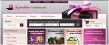 Webáruház referenciák - Ajándék Mindenkinek webáruház