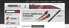 Webáruház referenciák - Creaton tetőcserép webáruház