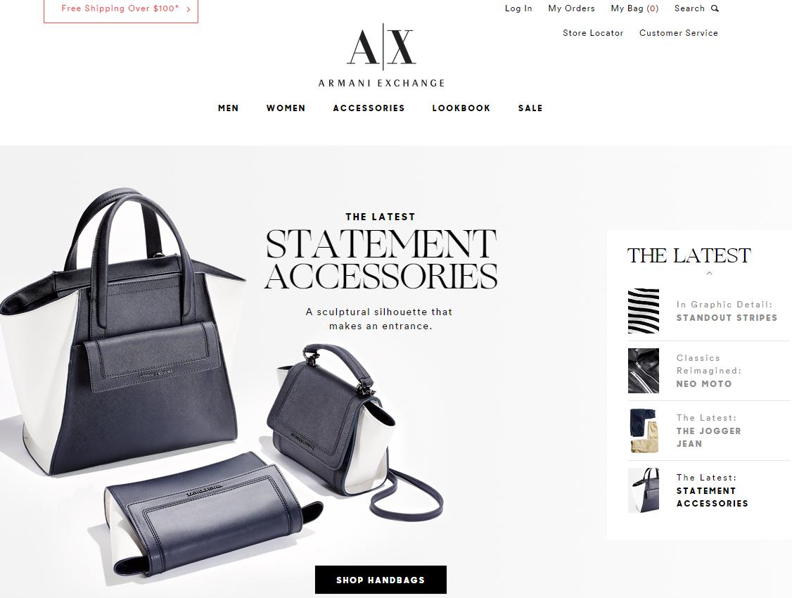 Armaniexchange webáruház